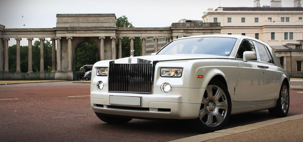 bs white rolls royce phantom
